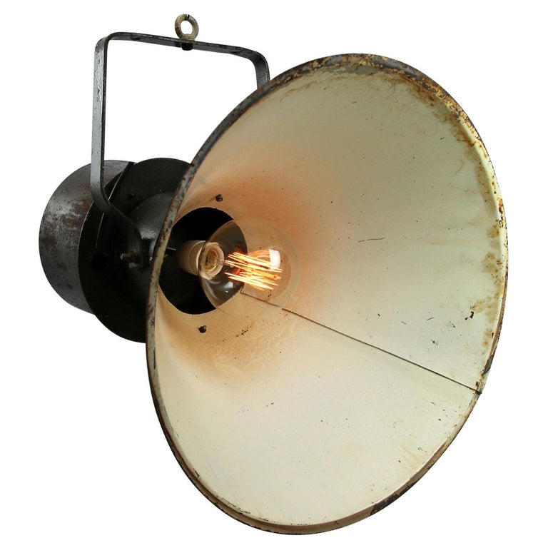 Green Brown Metal Vintage Industrial Pendant Lights In Good Condition For Sale In Amsterdam, NL