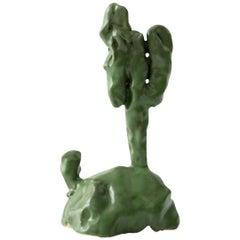 Green Cacti Handmade Glazed Stoneware Sculpture Unique Edition