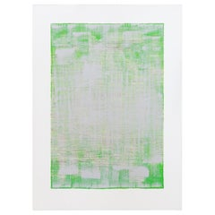 """Green Calcite"", Original Mixed-Media Painting on Paper"