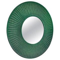 Green Cane Wall Mirror