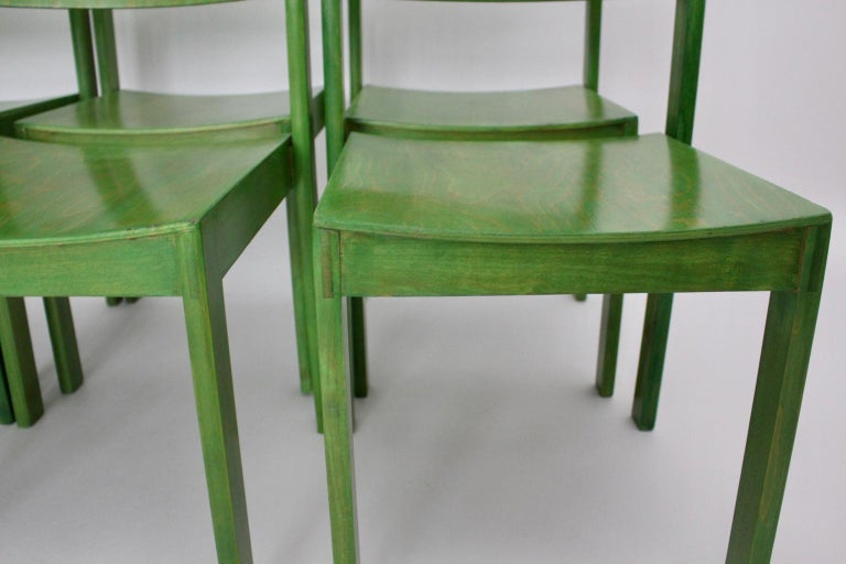 Green Carl Auböck Dining Room Chairs, Vienna, 1956, Set of Eight For Sale 6