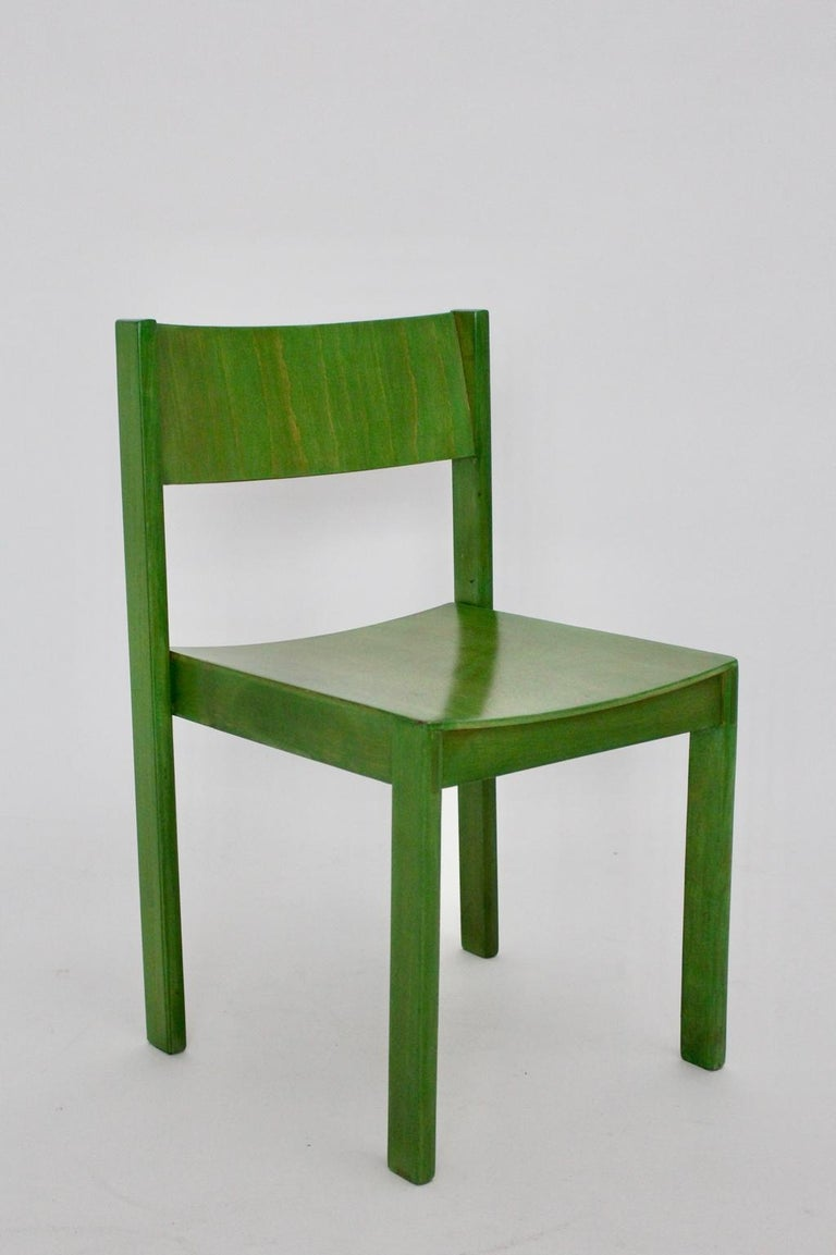 Green Carl Auböck Dining Room Chairs, Vienna, 1956, Set of Eight For Sale 13