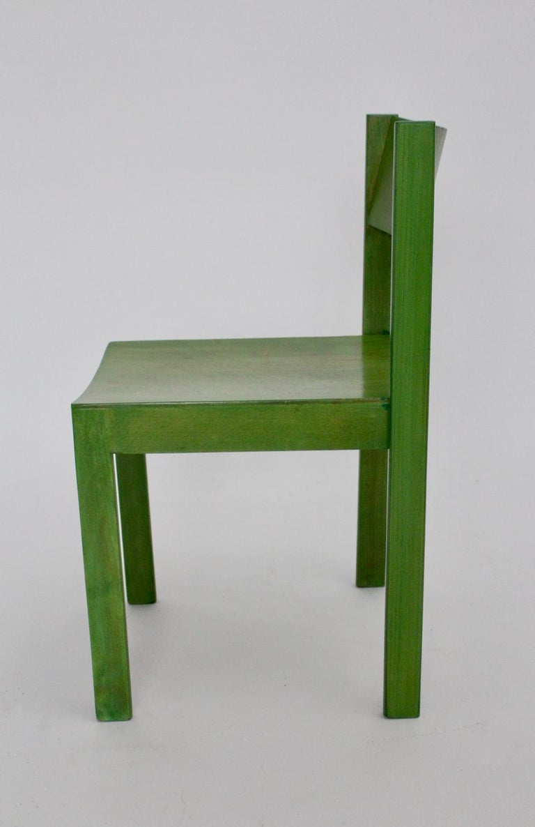 Green Carl Auböck Dining Room Chairs, Vienna, 1956, Set of Eight For Sale 14