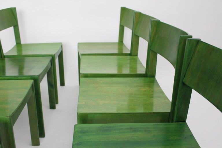 Green Carl Auböck Dining Room Chairs, Vienna, 1956, Set of Eight In Good Condition For Sale In Vienna, AT
