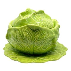 Green Ceramic Lettuce Cabbageware Serving Tureen after Dodie Thayer, 1978