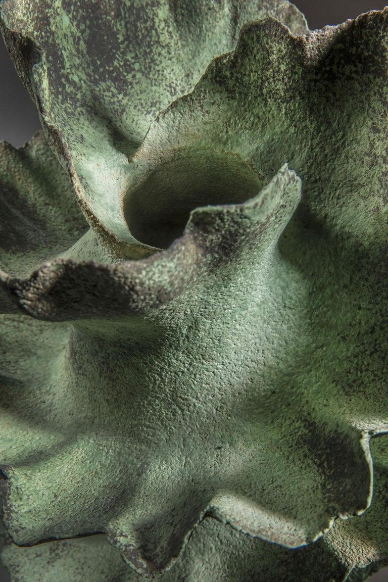 Danish Green Ceramic Vase by Sandra Davolio For Sale