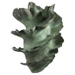 Green Ceramic Vase by Sandra Davolio