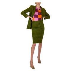 Green Chanel Tweed Suit 1990s