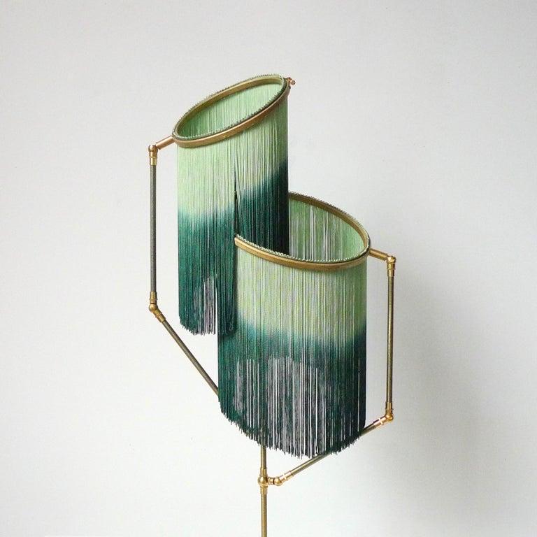 Brass Green Charme Floor Lamp, Sander Bottinga For Sale