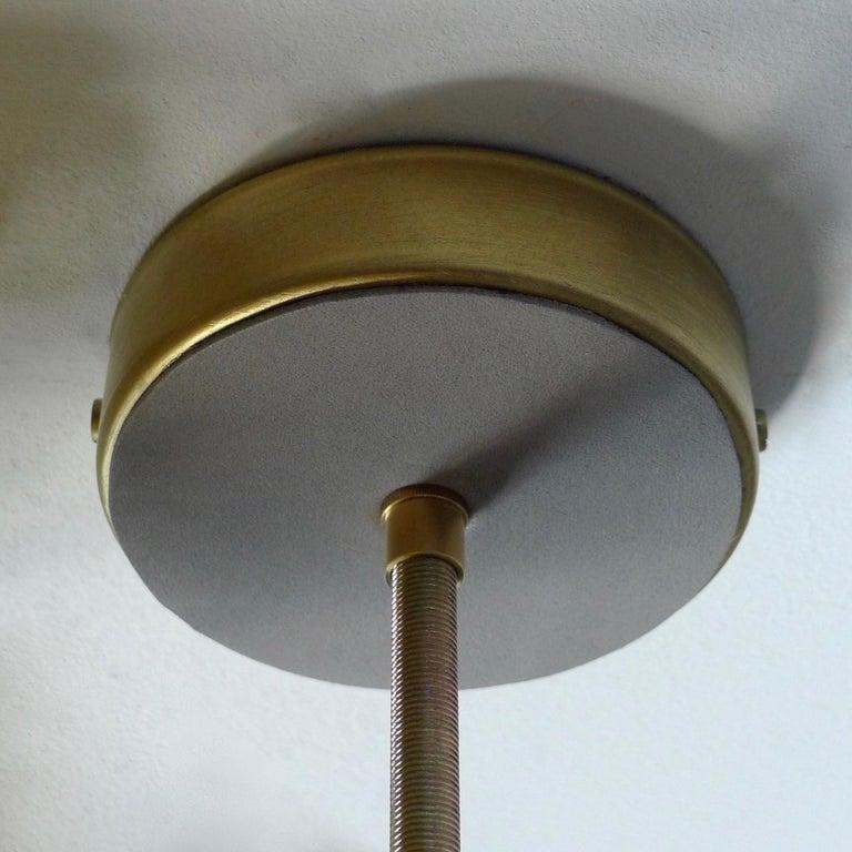 Brass Green Charme Pendant Lamp, Sander Bottinga For Sale