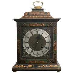 Green Chinoiserie Georgian Style Mantel Clock by English Maker Astral