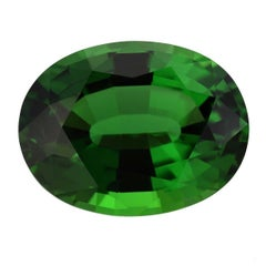 Green Chrome Tourmaline Oval 7.70 Carat GIA Certified