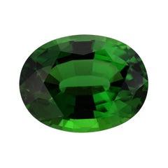 Green Chrome Tourmaline Ring Gem 7.70 Carat GIA Certified Loose Gemstone
