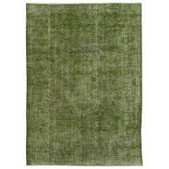 7x10 Ft Green Color Distressed Vintage Rug. Great for Modern Home & Office Decor