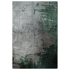 Green Day Rug in Silk from Fortuny Collection by Cristina Jorge de Carvalho