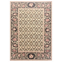 Green Diamond Design Needlepoint New Chinese Rug