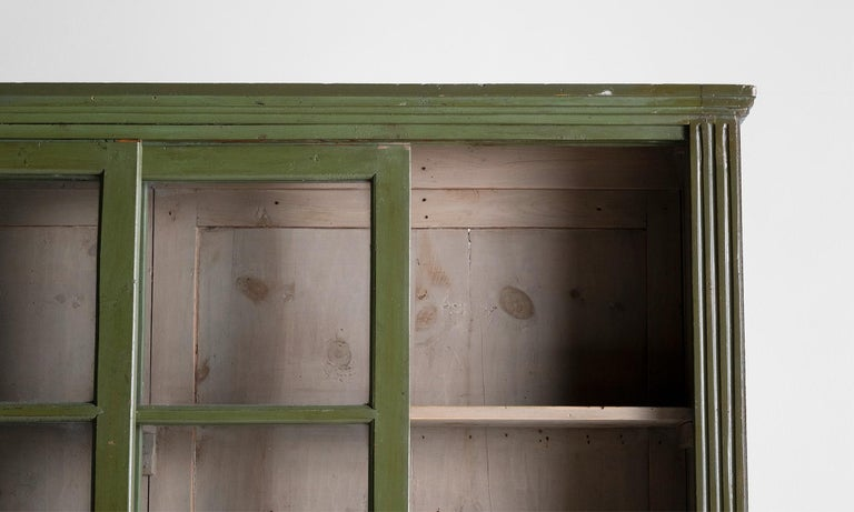20th Century Green Display Cabinet For Sale