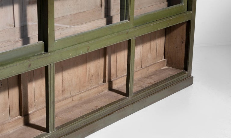 Wood Green Display Cabinet For Sale
