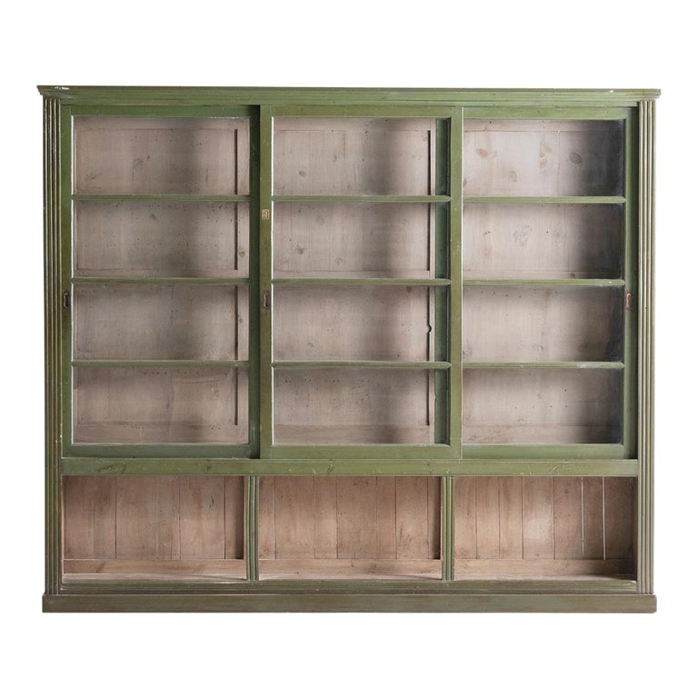 Green Display Cabinet For Sale