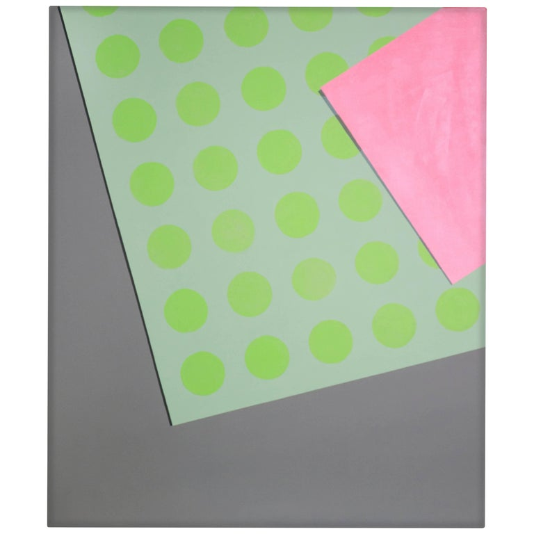 """""""Green Dots"""" 2016 Acrylic on Canvas by Cecilia Setterdahl For Sale"""
