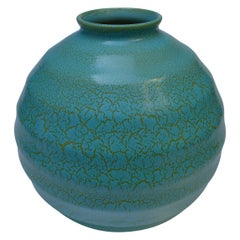 Green Dutch Art Deco Ceramic Vase