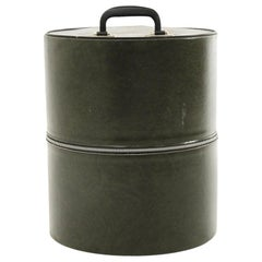 Green Eco-Leather Hatbox