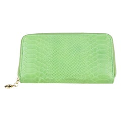 Green Embossed Italian Leather Wallet