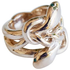 Emerald Gold Snake Ring Victorian Style J Dauphin