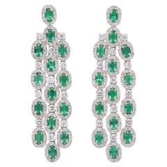 Green Emerald Chandelier Earrings