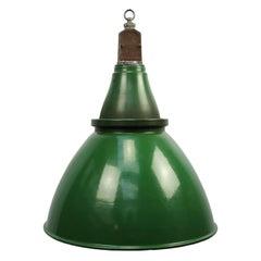 Green Enamel British Vintage Industrial Pendant Light