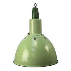Green Enamel Vintage Industrial Cast Aluminium Top Pendant Light