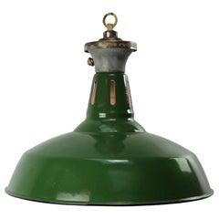 Green Enamel Vintage Industrial Factory Pendant Lights