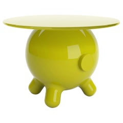 Green Extra Large Side Table, Decorative Auxiliary Table, Pogo by Joel Escalona