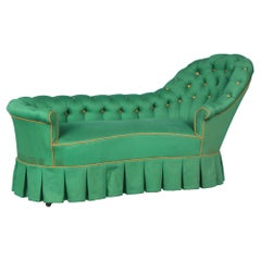 Green Fabric Neoclassical Daybed