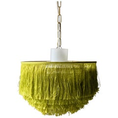Green Fringe Light with Glass Liner by Hans-Agne Jakobsson, Sweden (2 available)