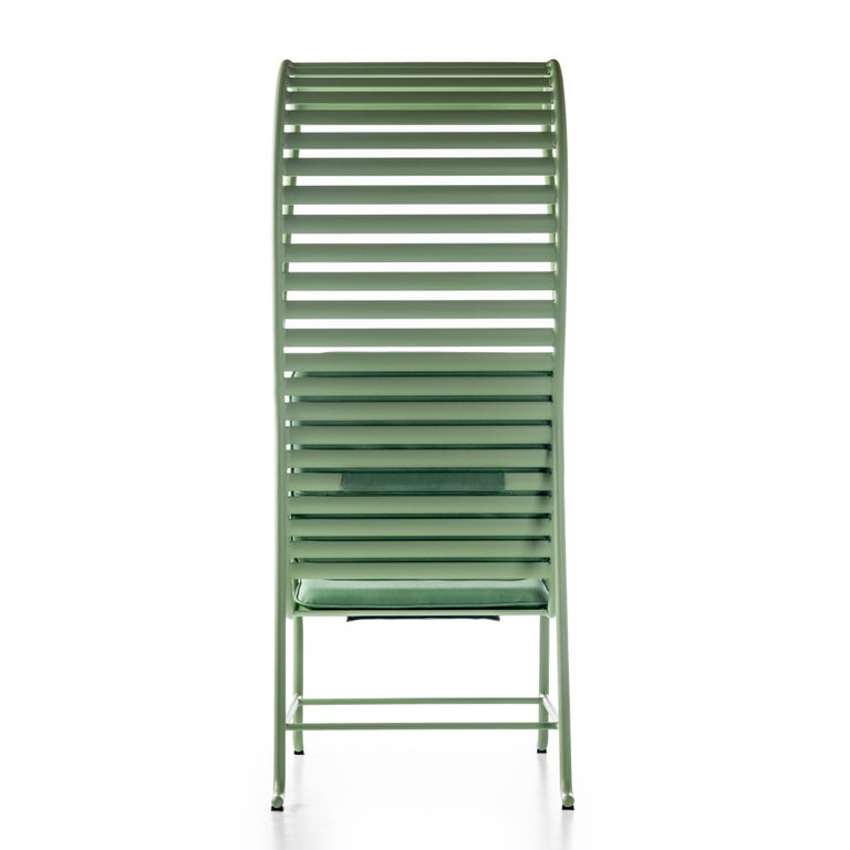 Painted Green Gardenias Armchair with Pergola, Outdoor by Jaime Hayon