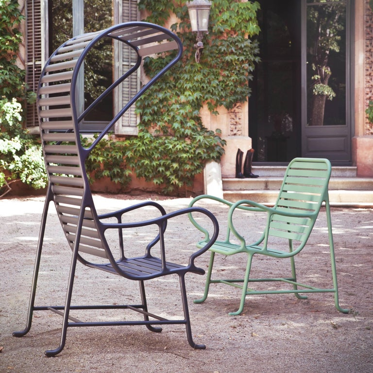 Contemporary Green Gardenias Armchair with Pergola, Outdoor by Jaime Hayon