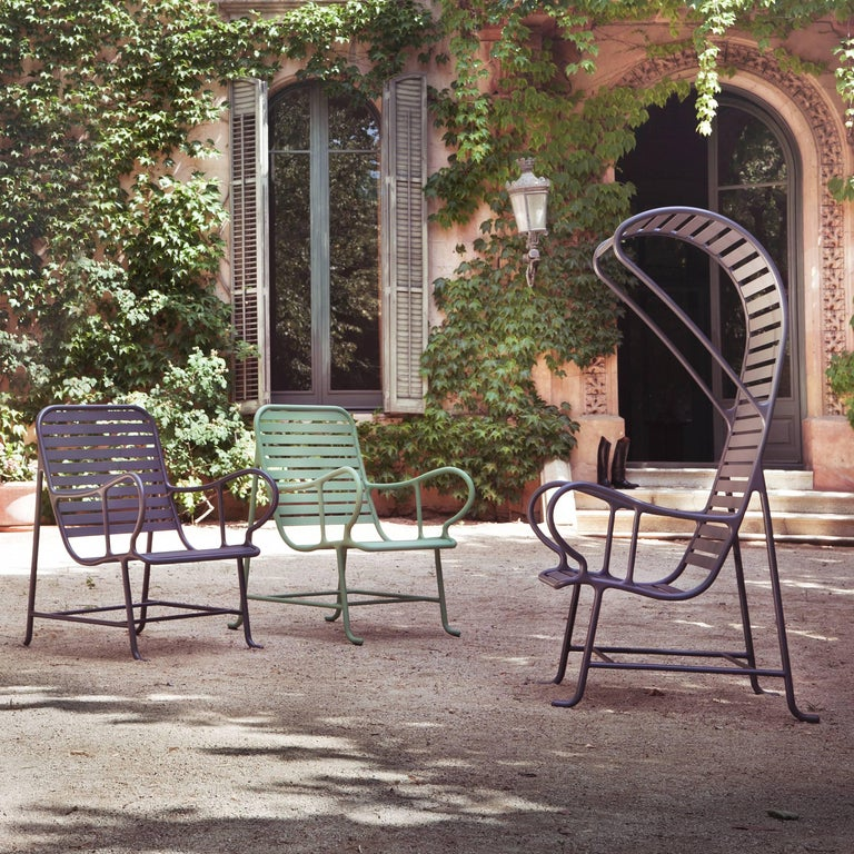Aluminum Green Gardenias Armchair with Pergola, Outdoor by Jaime Hayon