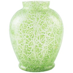 Green Glass Amphora Vase, Northern Europe, 1970s