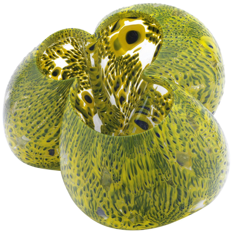 Green Glass Centerpiece by Barbara Nanning