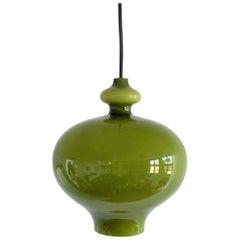 Green Glass Pendant Lamp by Hans-Agne Jakobsson for Svera, 1960s, 3 Available