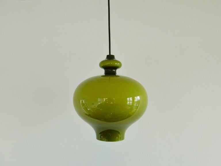 Green glass pendant lamp by hans agne jakobsson sweden 1960s for swedish green glass pendant lamp by hans agne jakobsson sweden 1960s for sale aloadofball Image collections
