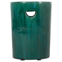 Green Glaze Garden Stool
