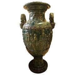 Green Glaze Majolica Vase