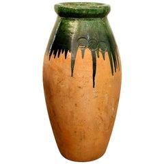Green Glaze Terracotta Jar