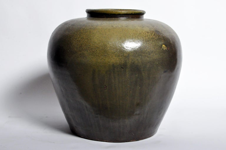Chinese Green Glazed Pot For Sale