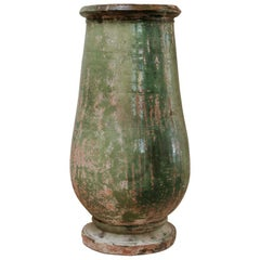 Green Glazed Terracotta Vase/Jardinière/Planter
