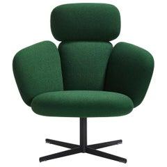 Green Highback Swivel Lounge Chair