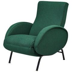 Green Italian Reclining Armchair by Nino Zoncada, 1950s