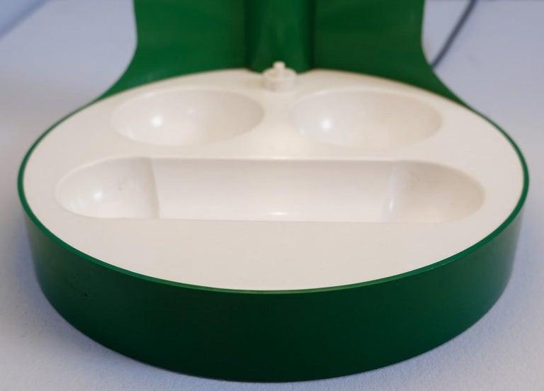 Mid-Century Modern Green Joe Colombo Table Lamp Model KD29, Kartell, 1967